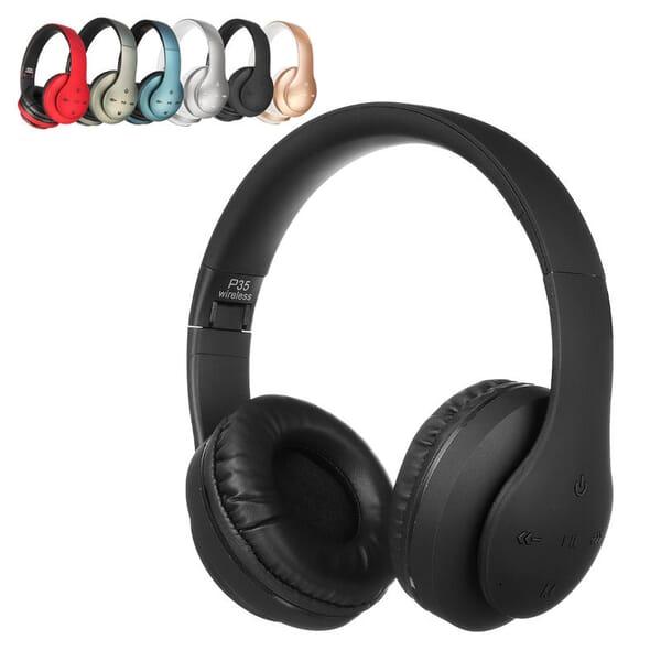 P35 Stereo bluetooth Headphone Headset AUX Heavy Bass Foldable Portable